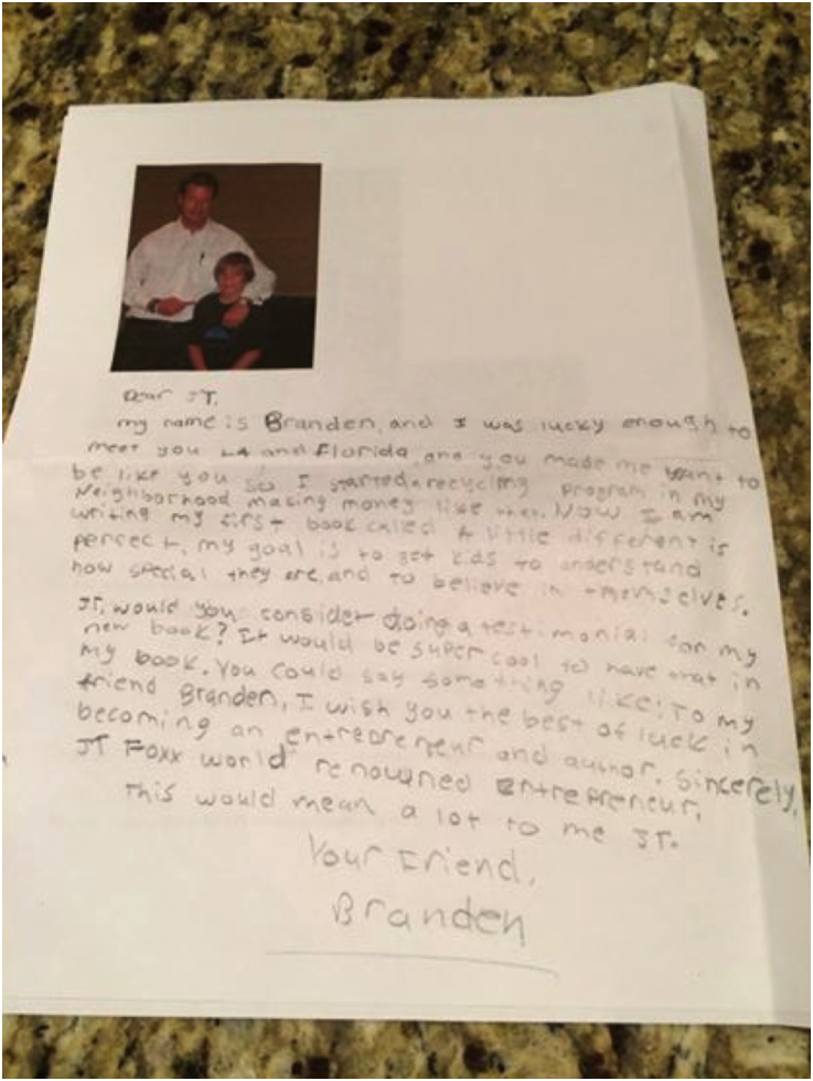 Letter from my buddy Brandon